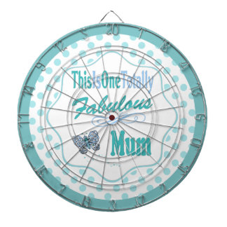 This Is One Totally Fabulous Mum Dartboard With Darts