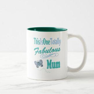This Is One Totally Fabulous Mum Two-Tone Coffee Mug