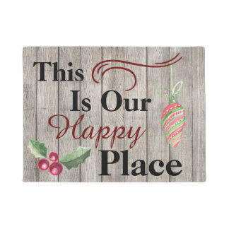 This Is Our Happy Place Christmas Front Door Mat