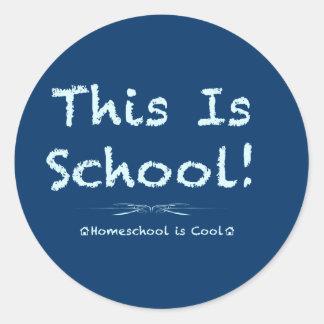 This is School Classic Round Sticker