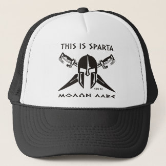 This is Sparta - Molon lave (black) Trucker Hat