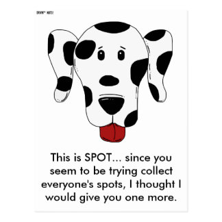 This Is Spot - Dog Print - Taking Up Parking Spots Postcard