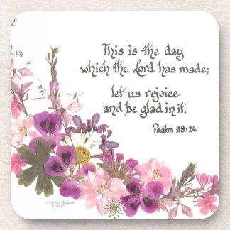 This is the day, Psalm 118:24 Coasters