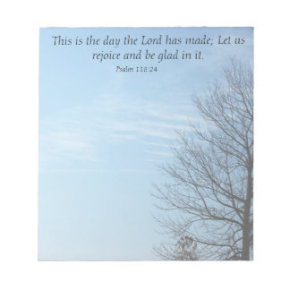 This is the day Scripture Notepad
