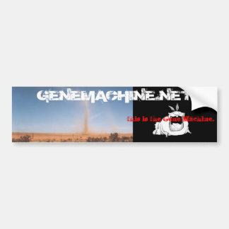 THIS IS THE GENE MACHINE BUMPER STICKER