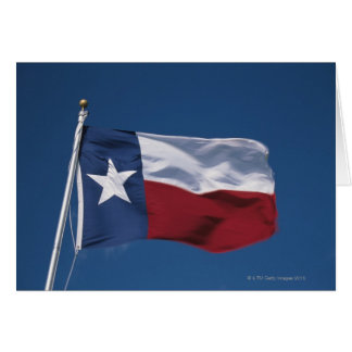 This is the State Flag flying in the wind. it is Card