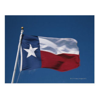 This is the State Flag flying in the wind. it is Postcard