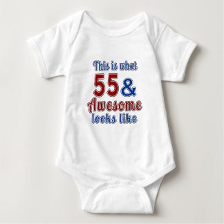 This is what 55 and awesome look like shirts