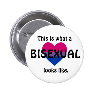 """""""This is what a bisexual looks like"""" badge"""