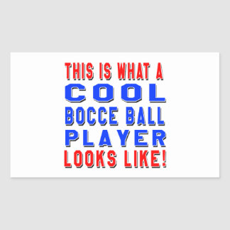 This Is What A Cool Bocce Ball Player Looks Like Rectangle Stickers