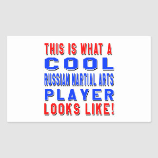 This Is What A Cool Russian Martial Arts Player Lo Rectangular Stickers