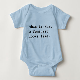 This is what a feminist (baby) looks like shirt