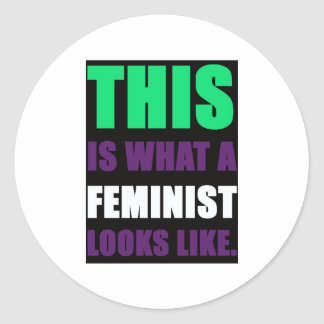 This is What A Feminist Looks Like Classic Round Sticker