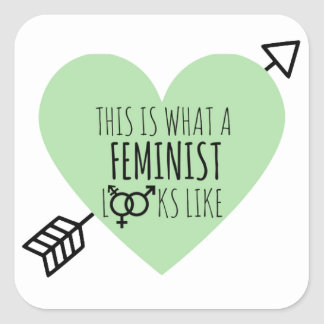 This is what a Feminist looks like Square Sticker
