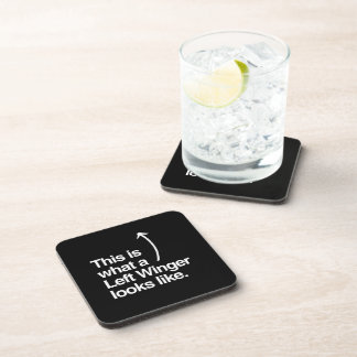THIS IS WHAT A LEFT WINGER LOOKS LIKE.png Drink Coasters