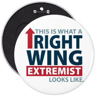 This is what a Right Wing Extremist Looks Like 6 Cm Round Badge