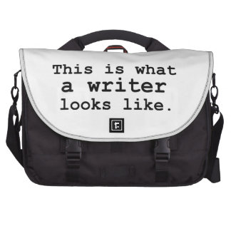 This is what a writer looks like. bag for laptop