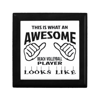 This is what an awesome Beach Volleyball player lo Small Square Gift Box
