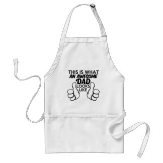 This is what an Awesome Dad looks like funny Standard Apron