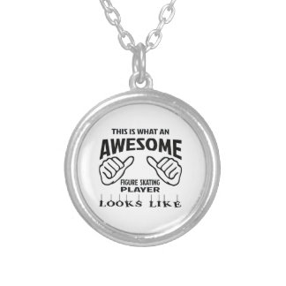 This is what an awesome Figure Skating player look Round Pendant Necklace