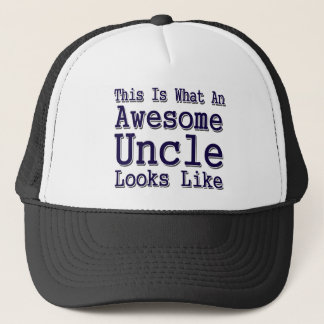 This Is What An Awesome Uncle Looks Like Trucker Hat