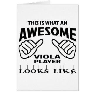 This is what an awesome Viola player looks like Greeting Card