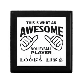 This is what an awesome Volleyball player looks li Small Square Gift Box