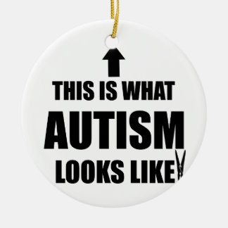 This is what autism looks like! christmas ornament