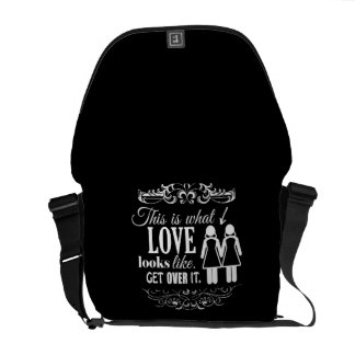 THIS IS WHAT LOVE LOOKS LIKE LESBIAN MESSENGER BAG