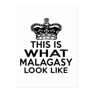 THIS IS WHAT MALAGASY LOOK LIKE POSTCARD
