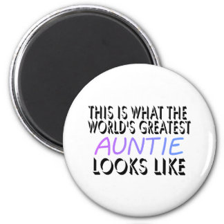 This Is What The World's Greatest Auntie (2) 6 Cm Round Magnet