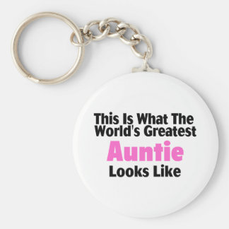 This Is What The World's Greatest Auntie Looks  Li Key Ring