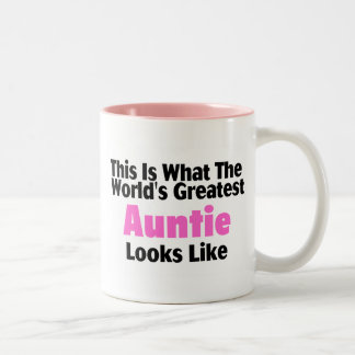 This Is What The World's Greatest Auntie Looks  Li Two-Tone Coffee Mug