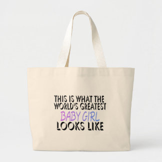 This Is What The World's Greatest Baby Girl (2) Jumbo Tote Bag