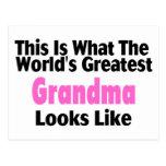 This Is What The World's Greatest Grandma Looks Li Postcard
