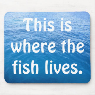 This is where the fish lives mouse pad