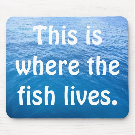 This is where the fish lives. mouse pad