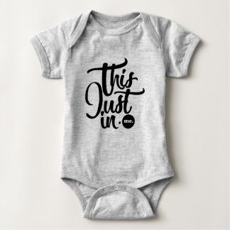 this just in baby bodysuit