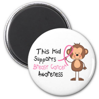 This Kid Supports Breast Cancer Awareness 6 Cm Round Magnet