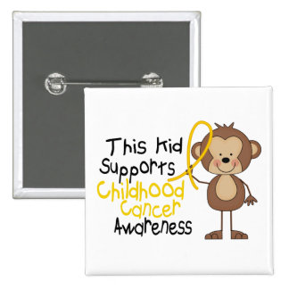 This Kid Supports Childhood Cancer Awareness 15 Cm Square Badge