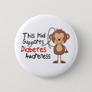 This Kid Supports Diabetes Awareness 6 Cm Round Badge