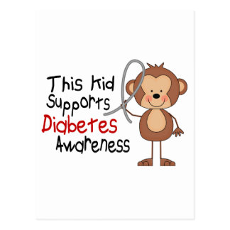 This Kid Supports Diabetes Awareness Post Cards