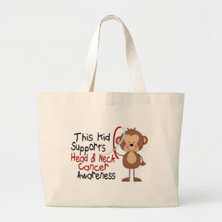 This Kid Supports Head and Neck Cancer Awareness Canvas Bags
