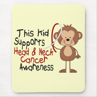 This Kid Supports Head and Neck Cancer Awareness Mouse Mat