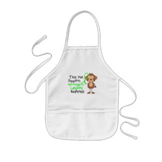 This Kid Supports Non-Hodgkins Lymphoma Awareness Kids Apron