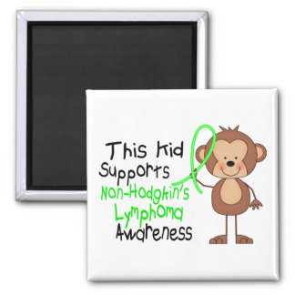 This Kid Supports Non-Hodgkins Lymphoma Awareness Square Magnet