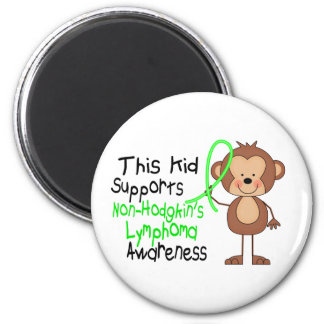 This Kid Supports Non-Hodgkins Lymphoma Awareness 6 Cm Round Magnet