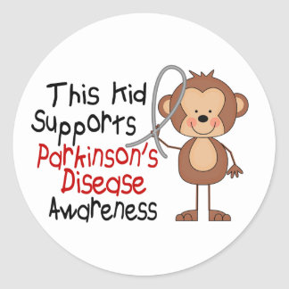 This Kid Supports Parkinsons Disease Awareness Stickers