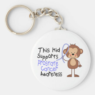 This Kid Supports Prostate Cancer Awareness Basic Round Button Key Ring