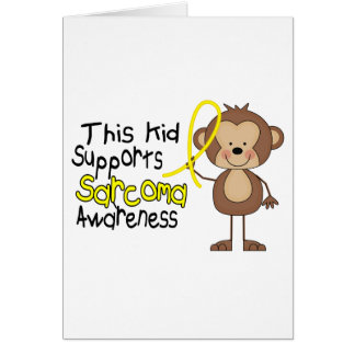This Kid Supports Sarcoma Awareness Greeting Card